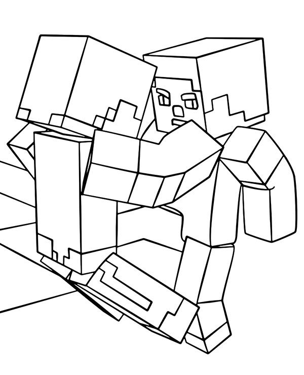 Malowanka Z Minecraft Do Wydrukowania E Kolorowanki Eu