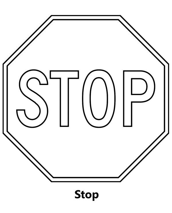Znak Stop Kolorowanka Do Wydruku